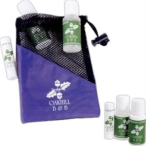 On The Run - Custom Imprinted Kit With Lip Balm, Hand Sanitizer, And Hand And Body Lotion