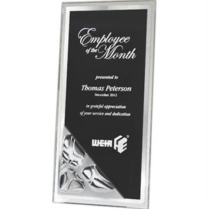 Gemini Inspiration - Tall Pebble Surface Plaque. Beveled Acrylic With Reflective Pebble Surface. New!