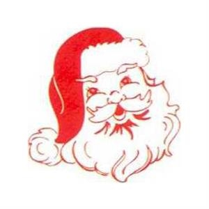 "Temporary Tattoos (tm) - Stock, Non Toxic, Hypoallergenic 2"" X 2"" Santa Claus Face Tattoo, Fda Certified"