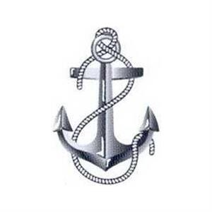 "Temporary Tattoos (tm) - Stock, Non Toxic, Hypoallergenic 2"" X 2"" Anchor Tattoo Is F"