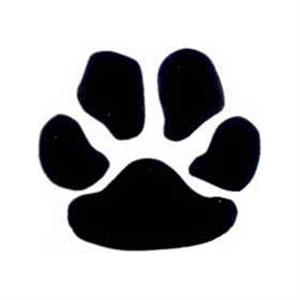 "Temporary Tattoos (tm) - Stock, Non Toxic, Hypoallergenic 2"" X 2"" Black Paw Print Tattoo Is Fda Certified"