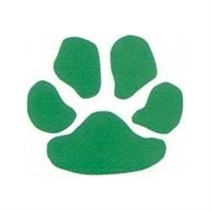 "Temporary Tattoos (tm) - Stock, Non Toxic, Hypoallergenic 2"" X 2"" Green Paw Print Tattoo Is Fda Certified"