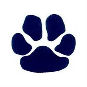 "Temporary Tattoos (tm) - Stock, Non Toxic, Hypoallergenic 2"" X 2"" Navy Paw Print Tattoo Is Fda Certified"