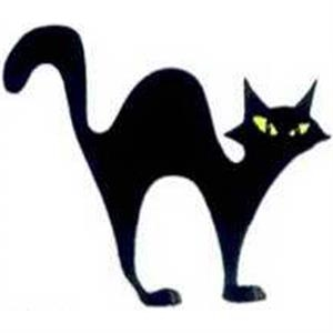 "Temporary Tattoos (tm) - Stock, Non Toxic, Hypoallergenic 2"" X 2"" Halloween Cat Tattoo Is Fda Certified"