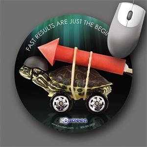 "Origin'l Fabric (r) - 8""dia.x1/8""-antimicrobial Fabric Surface Mouse Pad-5-day; Rush: 24hr,1,2,or 3-day"