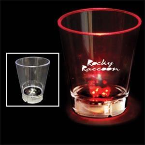 2 oz. Acrylic Red Dice LED Light Up Glow  Shot Glass