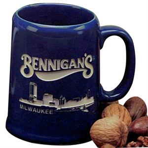 Tankard - Royal Blue Mug. Our Deep Engraved Mug For Your Favorite Brew