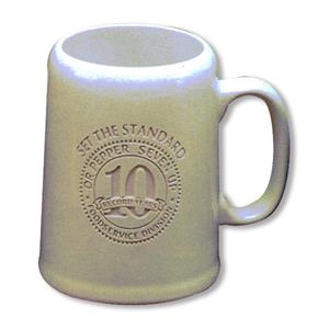 Tankard - White Mug. Our Deep Engraved Mug For Your Favorite Brew