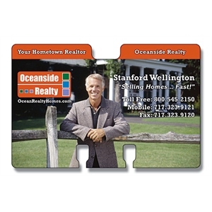 Laminated Rotary Card - Double Tab (approx. 4 X 2.625) - 14 Pt
