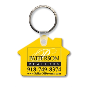 Sof-touch (tm) - Key Tag - House -spot Color. Flexible; 17 Product Colors; Screen Print