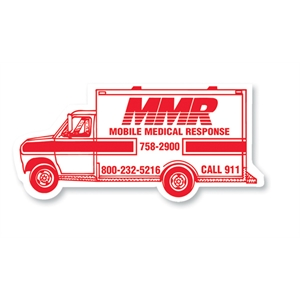 30 Mil - Magnet - Ambulance. Digital Four Color Process Print; Stock 20 Mil; 30 & 50 Mil