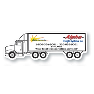 30 Mil - Magnet - Semi Truck. Digital Four Color Process Print; Stock 20 Mil; 30 & 50 Mil