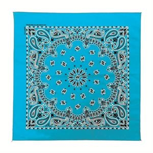 Usa Made Full Paisley Design Bandannas - Unimprinted