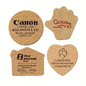 "Heart - 3-1/2"" X 1/8"" Cork Coasters"