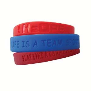 "1/2"" Debossed Silicone Wristbands"