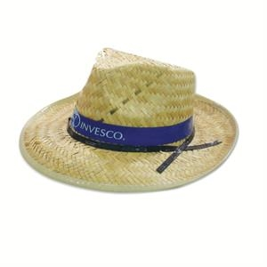 Straw Raider Hat With Imprinted Band