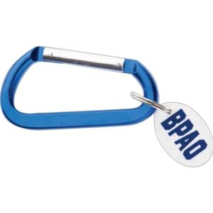 "Carabiner Key Chain With Oval Disc, Five Assorted Colors, 3 1/4"" X 1 5/16"" X 5/16"""