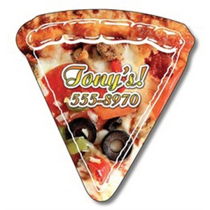 "Magnet, Pizza Slice Shape, Approximately 2.44"" X 2.63"", 25 Mil"