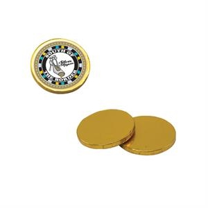 Chocolate Dude - Chocolate Coins. Chocolate Coins Candy With Four Color Process Decal On Wrapper