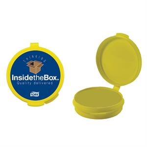 Pill Popper - Yellow Empty Plastic Pill Case. Plastic Pill Box/ Pill Case For Your Medications
