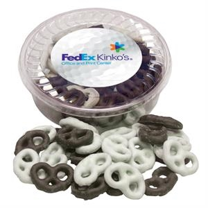 Designer Plastic Tray with Chocolate Covered Pretzels