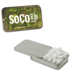 Slider Tin with Sugar Free Mints - Breath Fresheners