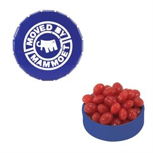 Mint Tin Maniacs - Small Blue Snap-top Mint Tin With Cinnamon Red Hots. Cinnamon Candy In Mint Tin