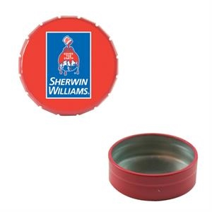Mint Tin Maniacs - Small Empty Red Snap-top Mint Tin. Can Be Filled With Mints, Candy, Or Gum