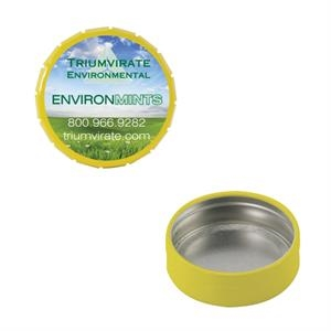Mint Tin Maniacs - Small Empty Yellow Snap-top Mint Tin. Can Be Filled With Mints, Candy, And Gum