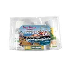 Suncare - Sun Care Kit. Sun Care With Hand Sanitizer, Lip Balm, And Sunscreen Stick For Summer