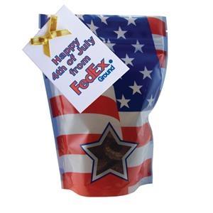Large Window Bag with Mini Chocolate Pretzels - Patriotic