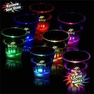2 oz. Rainbow Light-Up LED Glow Shot Glass