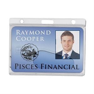 Horizontal Side-Load Frosted Rigid Plastic Badge holder