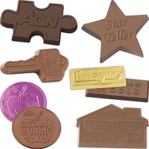 Wrapped custom chocolate shape 1 oz