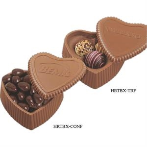 Milk Chocolate Heart Shaped Box Filled with Confections
