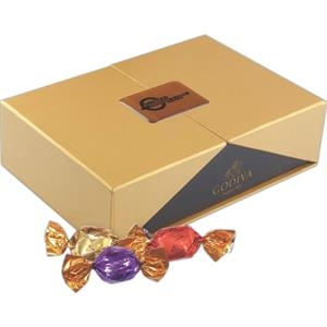 Label Printed Golden Box of Godiva Chocolate Sweets