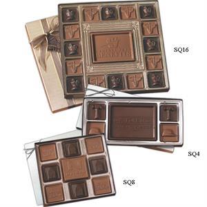 Custom chocolate squares gift box