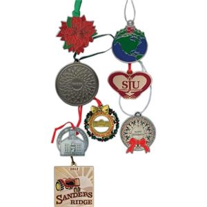 "3"" - Holiday Ornament With Metal Plating And String Included"