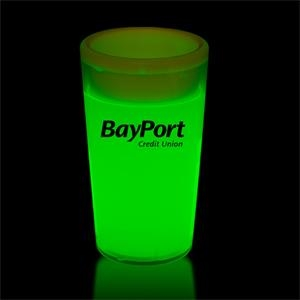 Green 2 oz. Tapered Style Light Up Glow Shot Glass