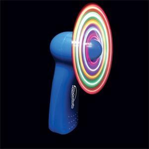 Blue Handheld MultiColor LED Glow Light Up Fan