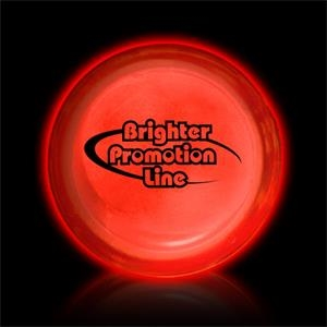 "Red 3"" Self-adhering Circle Shaped Glow Badge"