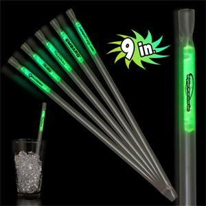 "Green 9"" Glow Motion Straw"