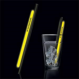 "Yellow 9"" Glow Straw"
