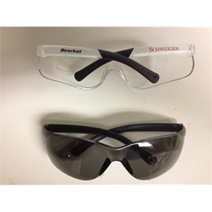 Bearkat - Safety Glasses With Flexible Bayonet Temples And Black Rubber Sleeves