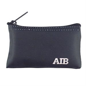 "Standard Nyloglo Coin Purse With Black Nylon Zipper And Seamed Bottom, W 5"" X 3"""