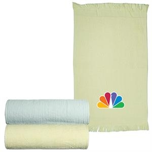 Logotec - Natural And White - Velour Sport Towel