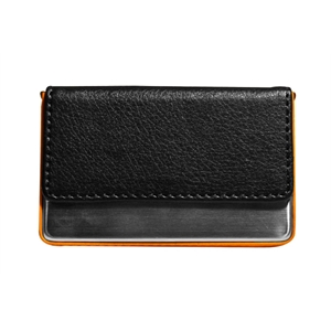 Leatherette And Metal Case Holds Up To 10 Business Cards