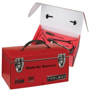 2 Colors Full Coverage - E-flute Corrugated Toolbox With Inside Tray