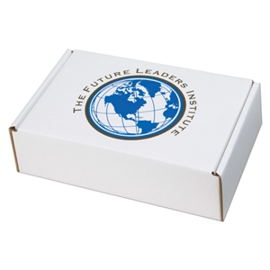 "1 Color Copy On Lid Only - B-flute Corrugated Box With Handle, 9 3/4"" X 6 3/4"" X 2 3/4"""