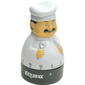 Gourmet Chef Shaped 60 Minute Winding Timer With Bell Alarm